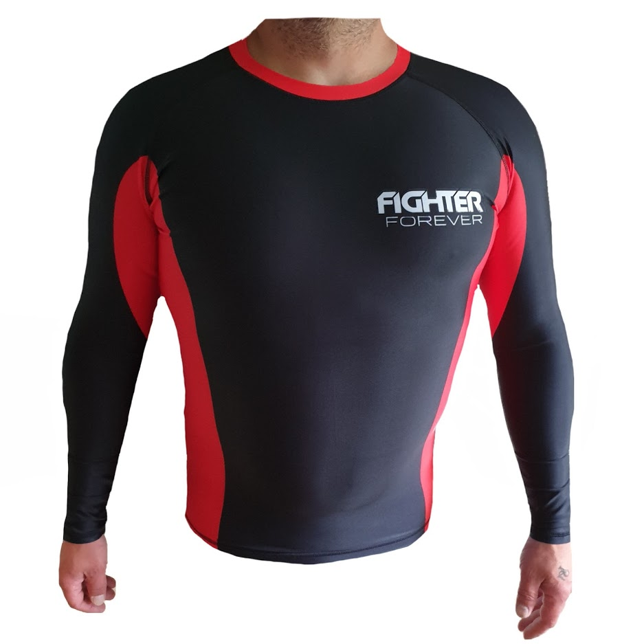 Fighter Forever Rash Guard MUSTA-PUNA